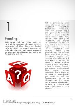 FAQ Cube Word Template, First Inner Page, 11987, Education & Training — PoweredTemplate.com