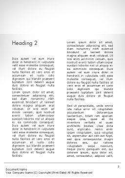FAQ Cube Word Template, Second Inner Page, 11987, Education & Training — PoweredTemplate.com