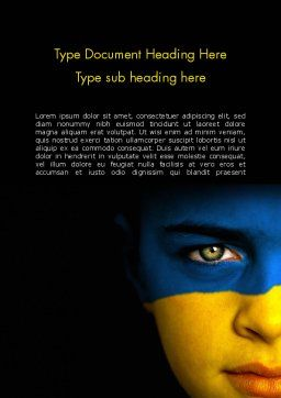Flag of Ukraine Word Template, Cover Page, 11993, Flags/International — PoweredTemplate.com