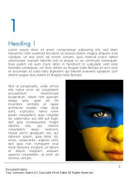 Flag of Ukraine Word Template, First Inner Page, 11993, Flags/International — PoweredTemplate.com