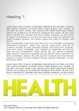 Word HEALTH Word Template, First Inner Page, 11995, Medical — PoweredTemplate.com