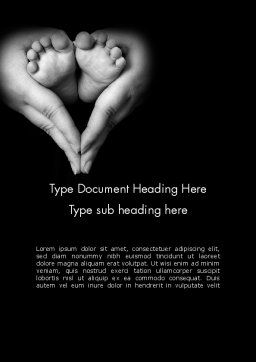 Cute Maternity Word Template Cover Page