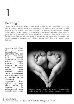Cute Maternity Word Template First Inner Page