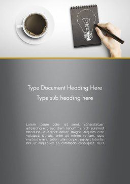 Coffee and Productivity Word Template, Cover Page, 11998, Food & Beverage — PoweredTemplate.com