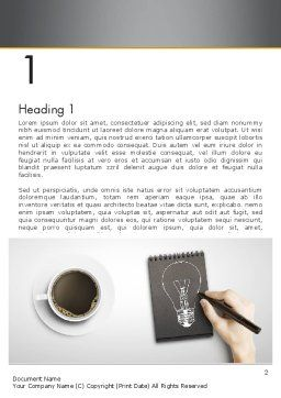 Coffee and Productivity Word Template, First Inner Page, 11998, Food & Beverage — PoweredTemplate.com