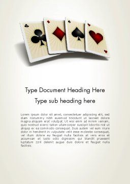 Four Aces Word Template Cover Page