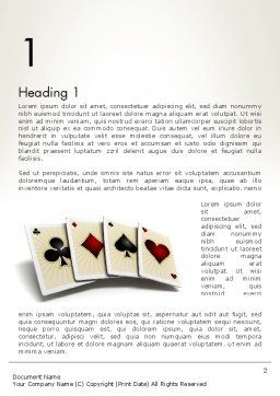 Four Aces Word Template First Inner Page