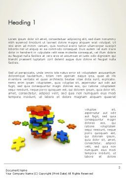 Pile of Puzzle Pieces Word Template, First Inner Page, 12001, Business Concepts — PoweredTemplate.com