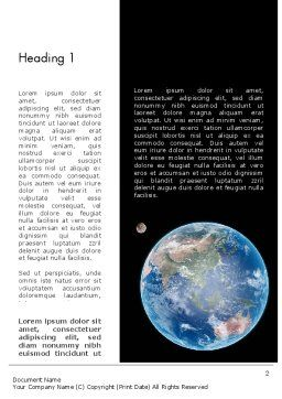 Earth and Moon Word Template, First Inner Page, 12002, Global — PoweredTemplate.com