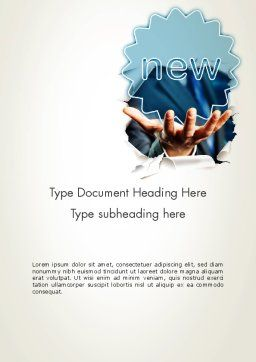 Research Ideas Word Template, Cover Page, 12005, Business Concepts — PoweredTemplate.com