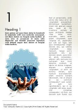 Research Ideas Word Template, First Inner Page, 12005, Business Concepts — PoweredTemplate.com