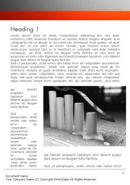 Melting Profits Word Template, First Inner Page, 12010, Financial/Accounting — PoweredTemplate.com