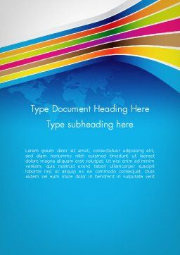 Colorful World Word Template, Cover Page, 12013, Global — PoweredTemplate.com