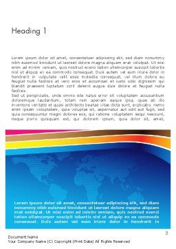 Colorful World Word Template, First Inner Page, 12013, Global — PoweredTemplate.com