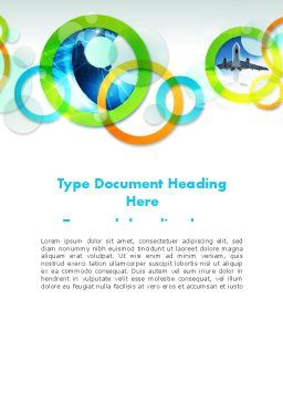 Cool Presentation with Rings Word Template, Cover Page, 12015, Business — PoweredTemplate.com