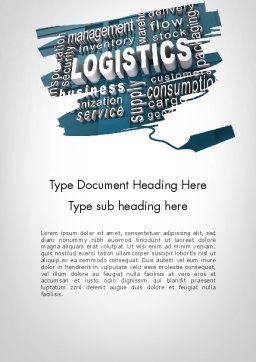 Logistics Word Cloud Word Template Cover Page