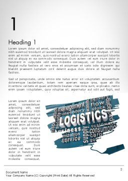 Logistics Word Cloud Word Template First Inner Page