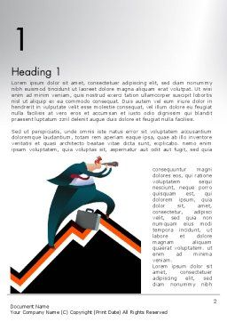 Businessman Climbing Graph Word Template First Inner Page