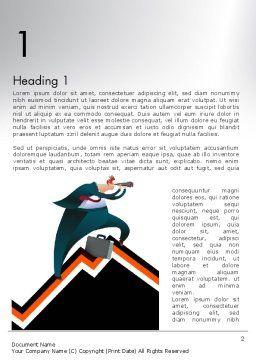 Businessman Climbing Graph Word Template, First Inner Page, 12017, Education & Training — PoweredTemplate.com