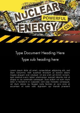 Nuclear Energy Debate Word Template Cover Page