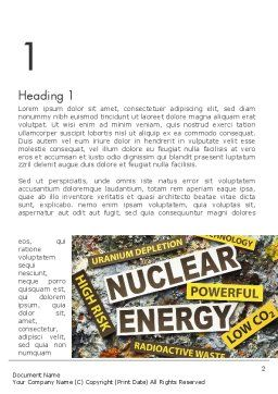 Nuclear Energy Debate Word Template First Inner Page