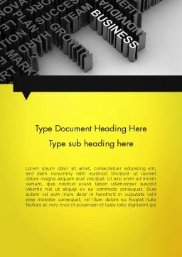 Business Buzzwords Word Template, Cover Page, 12023, Business Concepts — PoweredTemplate.com