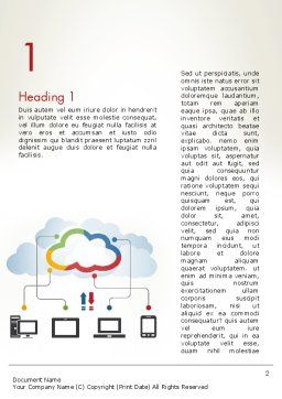 Cloud File Exchange Word Template, First Inner Page, 12027, Technology, Science & Computers — PoweredTemplate.com