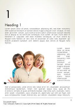 Young Happy People Word Template, First Inner Page, 12031, People — PoweredTemplate.com