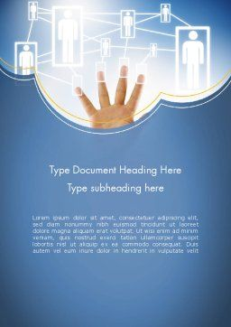 Human Resource Management System Word Template Cover Page