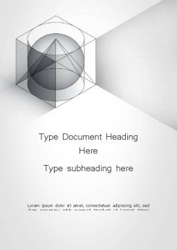 Geometrical Word Template, Cover Page, 12033, Education & Training — PoweredTemplate.com