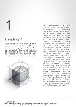 Geometrical Word Template, First Inner Page, 12033, Education & Training — PoweredTemplate.com
