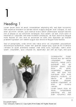 Hands Holding a Bonsai Plant Word Template First Inner Page