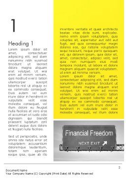 Financial Relief Word Template First Inner Page