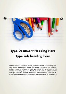 Homeschooling Word Template, Cover Page, 12039, Education & Training — PoweredTemplate.com