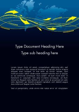 GPS Tracking System Word Template, Cover Page, 12041, Technology, Science & Computers — PoweredTemplate.com