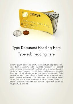 Pay Card Word Template, Cover Page, 12043, Financial/Accounting — PoweredTemplate.com