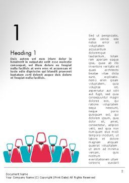 Co Workers Illustration Word Template, First Inner Page, 12044, Business — PoweredTemplate.com