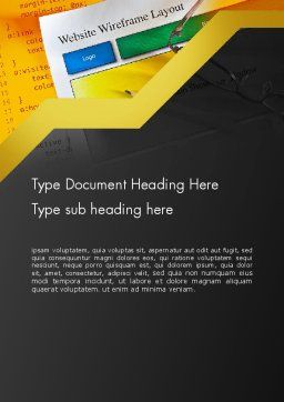 Website Design Word Template Cover Page