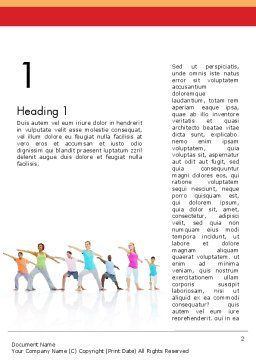 Morning Yoga Word Template First Inner Page