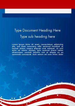 Fourth Of July Word Template, Cover Page, 12057, Holiday/Special Occasion — PoweredTemplate.com