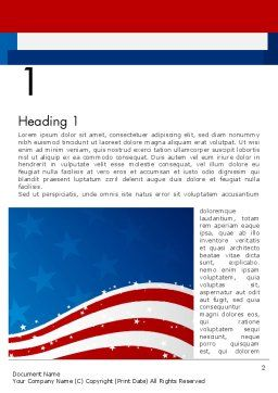 Fourth Of July Word Template, First Inner Page, 12057, Holiday/Special Occasion — PoweredTemplate.com
