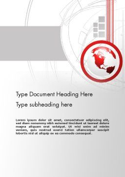 Technological Advancement Word Template Cover Page