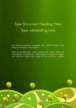 Green Meadows Word Template Cover Page