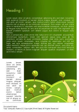 Green Meadows Word Template First Inner Page