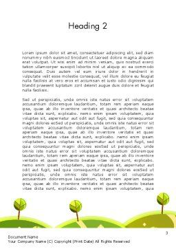 Green Meadows Word Template Second Inner Page