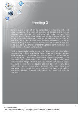 Integrated System Word Template, Second Inner Page, 12062, Business — PoweredTemplate.com