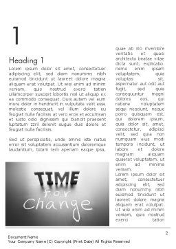 Time for a Change Word Template, First Inner Page, 12063, Consulting — PoweredTemplate.com