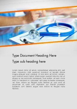 Healthcare Word Template, Cover Page, 12065, Medical — PoweredTemplate.com