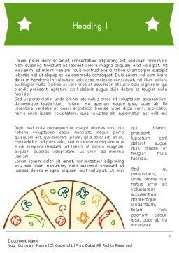 Pizza Illustration Word Template, First Inner Page, 12068, Food & Beverage — PoweredTemplate.com