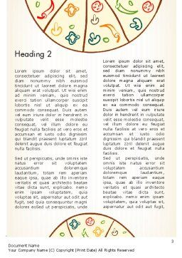 Pizza Illustration Word Template Second Inner Page